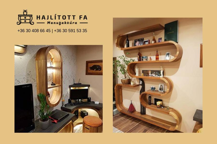 Hajlított fából készült íves bútorok