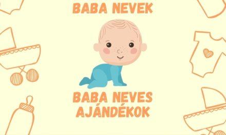 Baba nevek 2021-ben – baba neves ajándékok